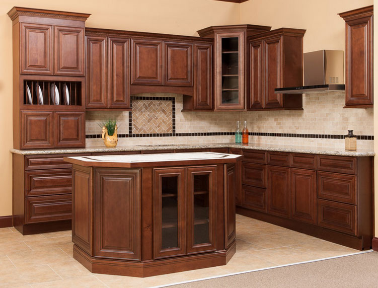 Charleston saddle birch kitchen cabinets detroit mi for Birch kitchen cabinets
