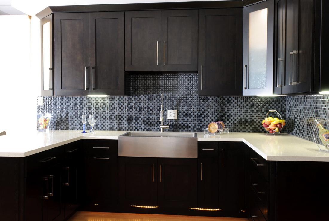 shaker espresso birch kitchen cabinets detroit, - mi cabinets