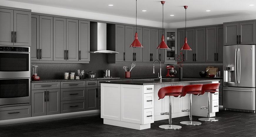 Shaker Grey Birch Kitchen Cabinets Detroit Mi Cabinets