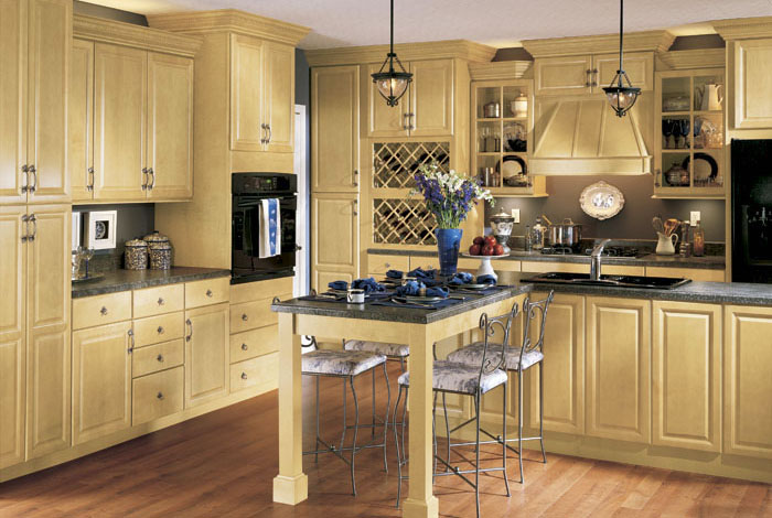 Wesley SLAB Arch Maple Kitchen Cabinets Detroit MI Cabinets
